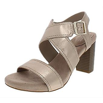 Giani Bernini Womens Janett Faux Leather Dress Sandals Gold 10 Medium (B,M)