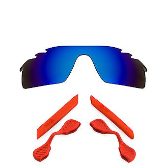 Polarized Replacement Lenses Kit for Oakley Vented Radarlock Path Blue Red Anti-Scratch Anti-Glare UV400 by SeekOptics