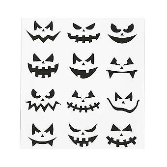 12 Spooky Pumpkin Face Stickers for Halloween Crafts | Kids Halloween Crafts