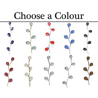 6 Pack Crystal Drops with Gold Stem for Floristry Crafts