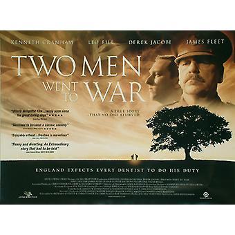 Kaksi miestä kävi koulua War (yksipuolinen) alkuperäinen elokuva juliste