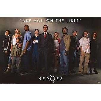 Heroes (Cast Reprint) (2006) Reprint Cinema Poster