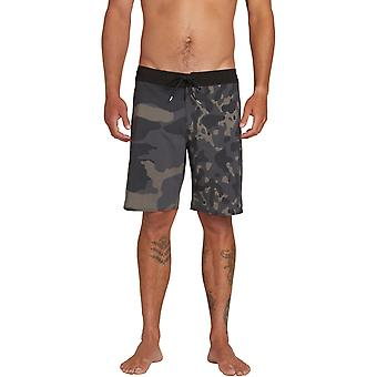 Volcom Combo Stoney 19 Mid Length Boardshorts in Black