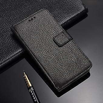 Galaxy S6 cases wallet shell leeche cover black