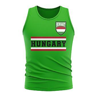 Ungarn kjerne fotball land ermeløs tee (grønn)