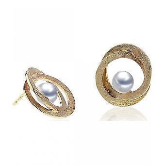 Luna-Pearls napit makean veden helmiä 5-5.5 mm 585 keltainen kulta 2027903
