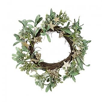 Heaven Sends Golden Mistletoe Wreath