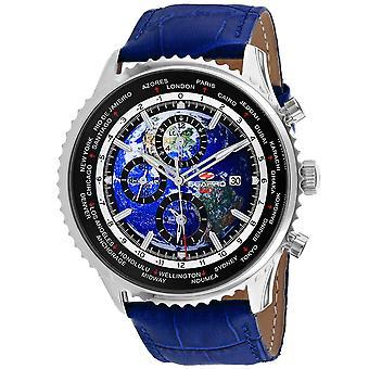 Seapro Men's Meridian World Timer GMT Blue Dial Watch - SP7132