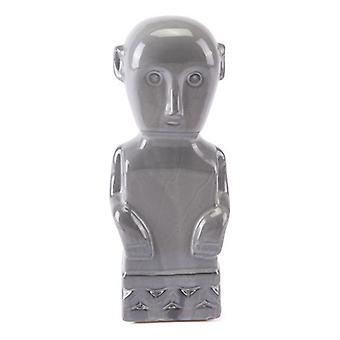 "4.7"" X 3.9"" X 11.8"" Gray Mayan-Art Inspired Accent Figurine"
