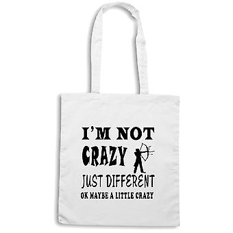 White shopper bag wtc1277 im not crazy just different archeryr