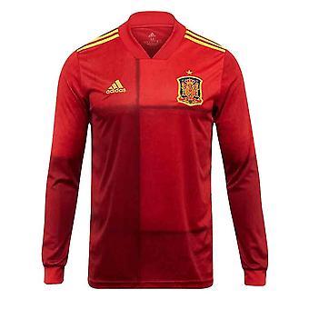 2020-2021 إسبانيا الرئيسية أديداس قميص طويل الأكمام