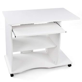 Kompakter Computer Schreibtisch mit Tastaturwagen