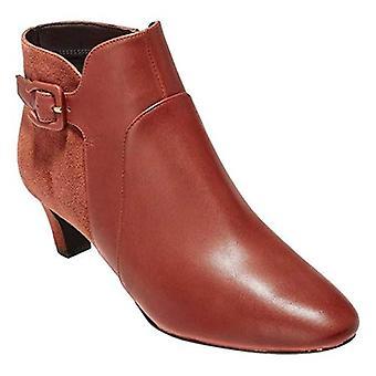 Cole Haan Women's Sylvia Bootie Brandy Brown Waterproof Leather 8M