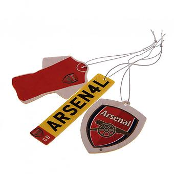 Arsenal FC Air Fresheners (Pack Of 3)