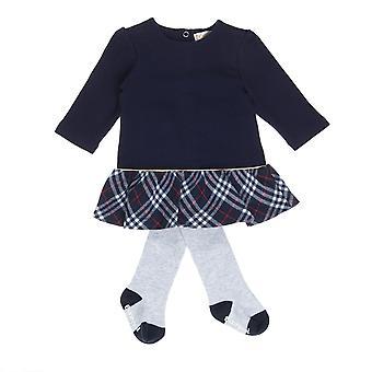 Babybol μπλε κορίτσια φόρεμα + γκρι καλσόν