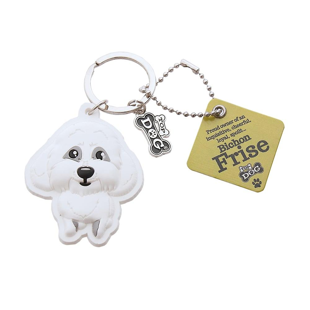 Wags & Whiskers Keyring - Bichon Frise