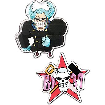 Pin Set - One Piece - Franky & Franky Pirates Jolly Roger New ge50520