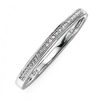 Joshua James Precious 9ct White Gold & Diamond Pave Ring