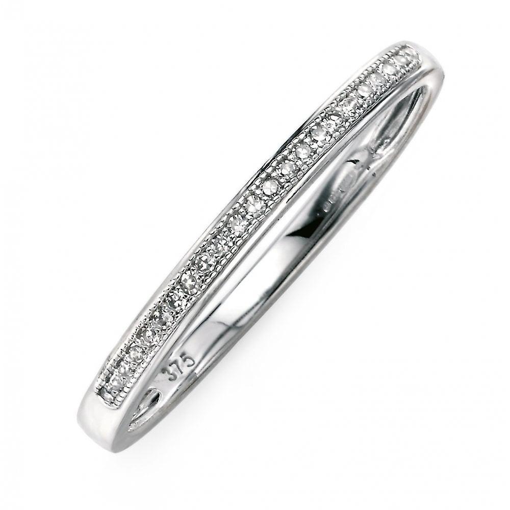 Joshua James Precious 9ct White Gold & Diamond Pave Ring