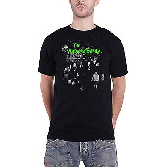 The Addams Family T Shirt Addams Family House new Official Mens Black