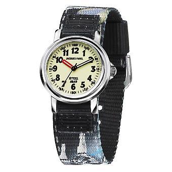 JACQUES FAREL Kids Wristwatch Analog Quartz Boys Textile Ribbon Espace KST 8800