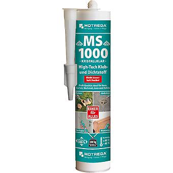 HOTREGA® MS 1000 high-tech lijm en kit, 290 ml cartridge, transparant