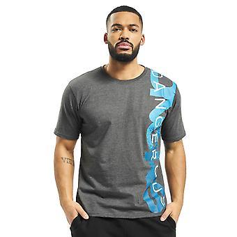Dangerous Men's T-Shirt Leisure DNGRS Hyena Top Brand logo print Round neck
