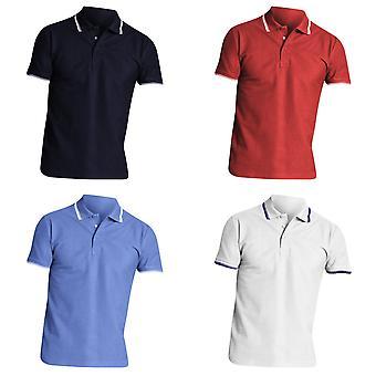 Práctica de soles Mens camisa de Polo de manga corta de piqué con punta
