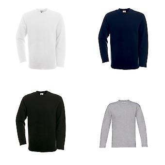 B & C Mens plaine ouvrir Hem Crew Neck Sweatshirt