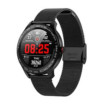 Lokmat Sports Smartwatch Fitness Sport Activity Tracker Smartphone Watch iOS Android IP68 iPhone Samsung Huawei Black Steel