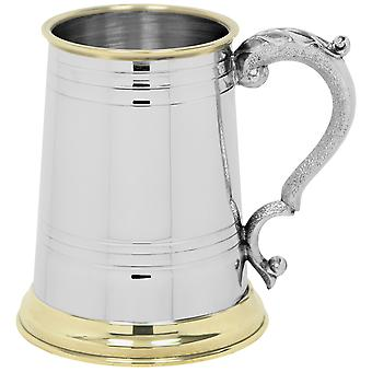 Cheshire Messing Lippe & Basis Zinn Tankard - 1 Pint