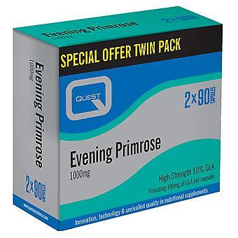Quest Vitamins Evening Primrose Oil 1000mg (Twin Pack 2X90) Caps 180 (P606564)