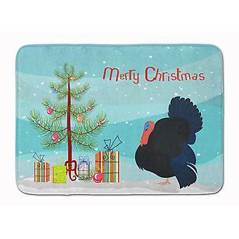 Norfolk Black Turkey Christmas Machine Washable Memory Foam Mat