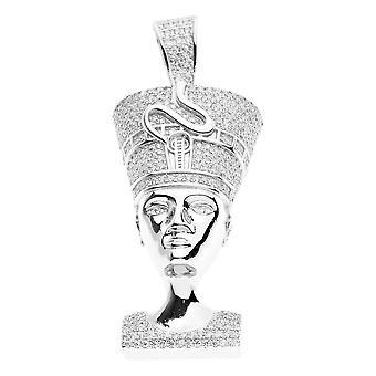 Premium Bling - 925 sterling silver NEFERTITI pendant