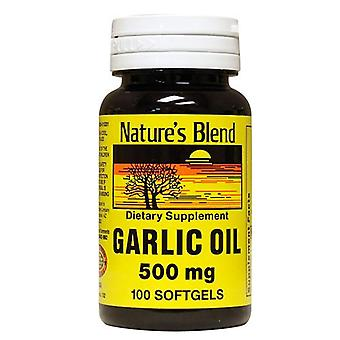 Nature's blend garlic oil, 500 mg, softgels, 100 ea