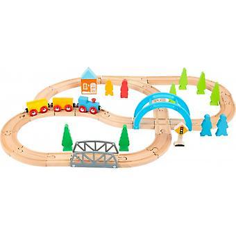 """Houten treinbaan """"Lange Reis"""""""