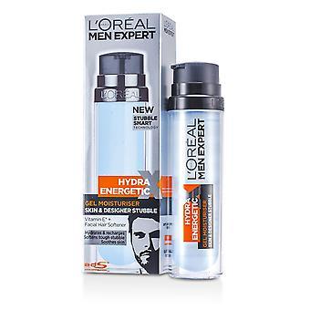 Men expert hydra energetic skin & designer stubble gel moisturiser (pump) 78201733 176808 50ml/1.7oz