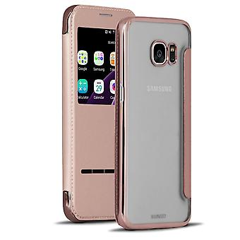 Transparent Glossy Shell pour Samsung Galaxy S7 Edge Glittering TPU Bling Pink