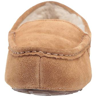 Amazon Essentials Women's Leather Moccasin slipper, kastanje, 10 M ons