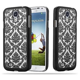 Samsung Galaxy S4 Hardcase Hülle in SCHWARZ von Cadorabo - Blumen Paisley Henna Design Schutzhülle – Handyhülle Bumper Back Case Cover