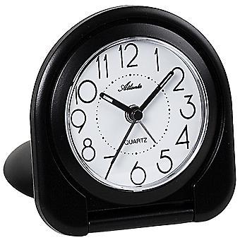 Atlanta 1909 /7 herätyskello matkustaa herätyskello taitto herätyskello kvartsi analoginen musta