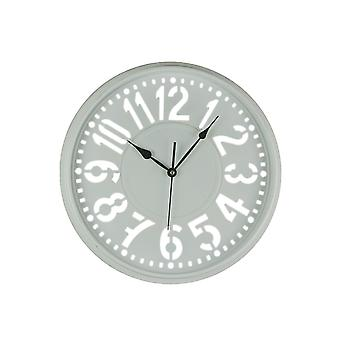 16 Inch Diameter Wall Clock With Easy To Read Large Cutout Numbers