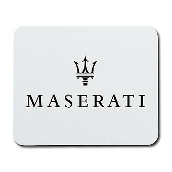 Maserati Nero Logo Mouse Pad