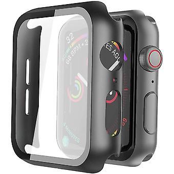 Protecteur d'écran avec verre trempé pour l'Apple Watch 4/5 - 40 mm - Noir