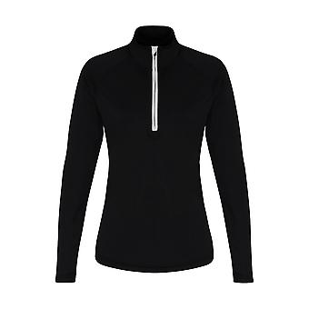 TriDri Womens/Ladies Long Sleeve Performance Quarter Zip Top