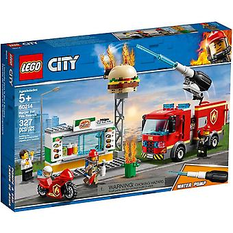 LEGO 60214 fire at the Burger restaurant