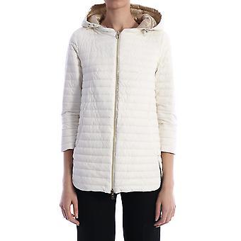 Herno Pi1092d192881008 Women's White Nylon Outerwear Jacket