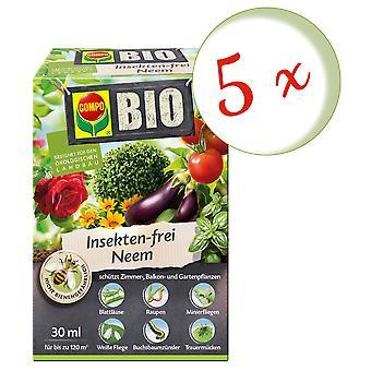 Sparset: 5 x COMPO BIO Insektsfri Neem, 30 ml