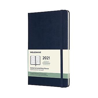 2021 12M Wkly Horiz Lrg Sapphire Blue HD