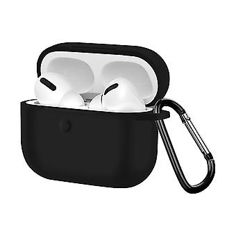 Soft Case Apple AirPods pro Anti-fingerprint Anti-Scratch with Carabiner- Black